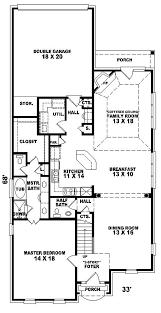 house plans narrow lots sqaure bedrooms bathrooms garage spaces width depth flo