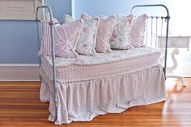 Vintage White Baby Crib by Custom Order Antique Wrought Iron Crib Settee Daybed Shabby