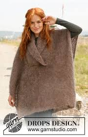 drops design poncho 135 best knitted poncho images on ponchos knitting