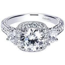 3 diamond rings vintage halo 3 plus 2cttw diamond engagement ring mullen