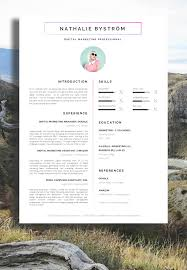 Job Resume Marketing by Nathalie Bystrom Marketing Cv Resume A Professional Approach