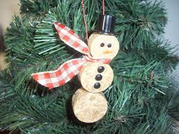 snowman ornament 8 00 via etsy you know i have enough corks to