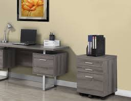 monarch specialties filing cabinet with 3 drawer on castors dark
