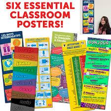 Pinterest Classroom Decor by All 6 Skinny Posters French Pinterest Classroom Decor