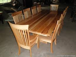 custom dining room table u0026 chairs by old farm amish furniture