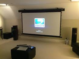 Projector Media Room - raleigh durham home theater media room installations elite