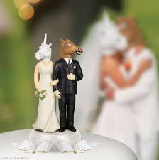 wedding toppers unicorn wedding cake topper things