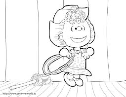 sally brown pdf printable coloring page peanuts peanuts