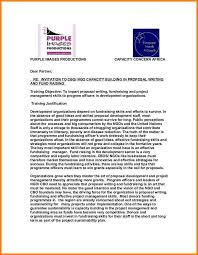 training proposal templates sample proposal letter for outreach