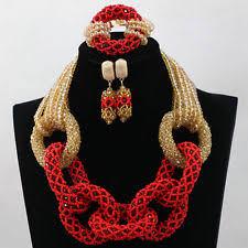 Costume Jewelry Unique Beaded Design Unique Jewelry African Wedding Beads Women Costume Jewelry Set