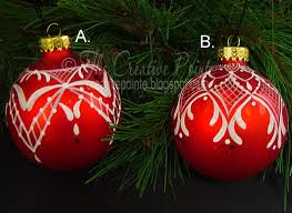 the creative pointe painted lace ornaments