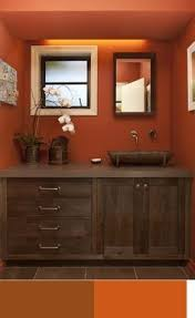 Dark Brown Bathroom Accessories by Best 25 Burnt Orange Bathrooms Ideas On Pinterest Orange