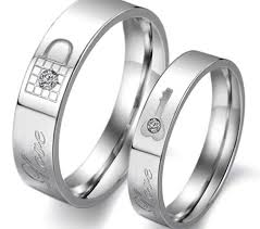 promise ring sets matching ring sets titanium stainless steel mens