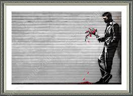 framed poster new york waiting in vain banksy for living room