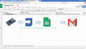 Google Spreadsheet App Send Email With Esp8266 Google Docs Google Script App Google