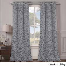 2 panels heavy woven triple layered blackout curtains yugster