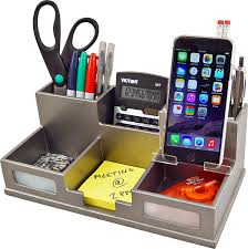 Desk Organizers Wood by Amazon Com Victor Wood Desk Organizer With Smart Phone Holder