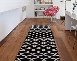 area rug runner square black white trellis pattern wonderful wool