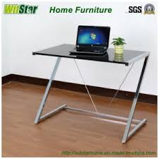 Z Shaped Desk China Z Shaped Metal Glass Computer Desk Ws16 0009 For Home