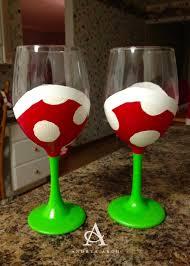 Awesome Wine Glasses Andrea Arch Diy Mario Piranha Plant Wine Glasses