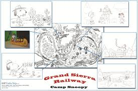 Knotts Berry Farm Map Grand Sierra Railroad Peanuts Character Map Theme Park Adventure