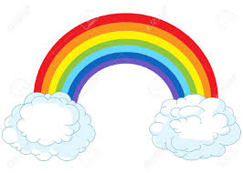 illustration of rainbow in pastel colors royalty free cliparts
