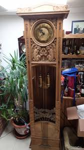 German Grandfather Clocks 1890 U0027s Angels Praying To The Tree Of Life German Made Lfs Open