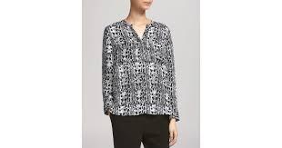 snake print blouse lyst whistles snake print v neck blouse in black