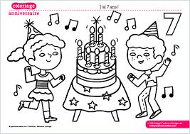 Le coloriage de mon anniversaire à imprimer  jai 7 ans   Grandir