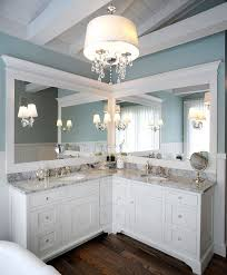 Corner Bathroom Vanity Cabinets Best 25 Corner Bathroom Vanity Ideas On Pinterest His And Hers