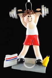 weightlifting chriistmas ornaments ornaments