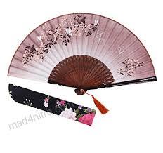 hand held folding fans amajiji folding fan 82721cm women hand held silk folding fans with