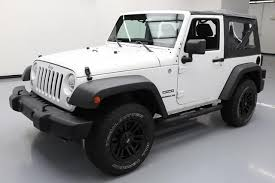 white jeep rubicon 2014 jeep wrangler sport convertible 4x4 6 speed 67k mi at texas
