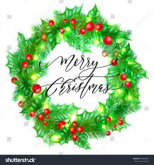 merry christmas holiday hand drawn quote stock vector 760040896