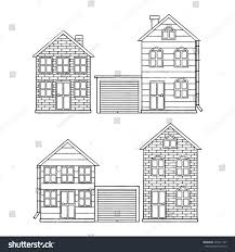 vector icon set different houses garage stock vector 423011167