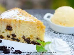 cuisine mode เค กล กเกดและไอศกร มวาน ลลา raisin cake a la mode ส ตรจาก