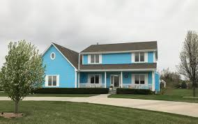 after they painted their house blue the homeowners association