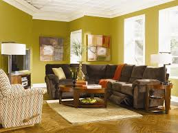 brown furniture colorful living room design with download color