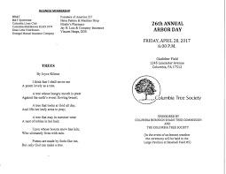 columbia spy 26th annual arbor day celebration at glatfelter u0027s