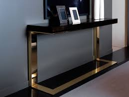 Italian Console Table Nella Vetrina Modern Italian Designer Makassar Wood Console