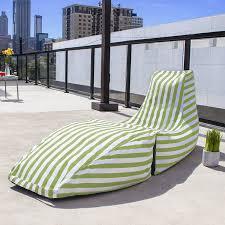 Outdoor Bag Chairs Amazon Com Jaxx Prado Outdoor Bean Bag Chaise Lounge Chair