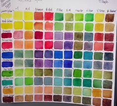 it shows many but not all of the colors that can be made from a