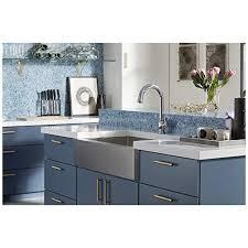 cabinet trim kitchen sink kohler k 5415 na strive self trimming farmhouse undermount large single bowl kitchen sink with apron 35 1 2 x 21 1