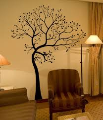 aliexpress com buy l54 big tree brown green wall decal decor art
