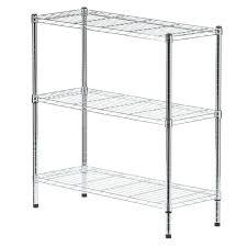 home depot utility shelves hdx 3 shelf 37 in h x 36 in w x 14 in d wire unit in chrome eh