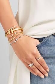 tiffany wire bracelet images Tiffany co t wire narrow glamorous 18 karat gold bracelet jpg