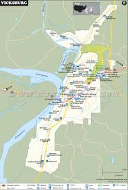 Mississippi Map Usa by Vicksburg Map City Map Of Vicksburg Mississippi