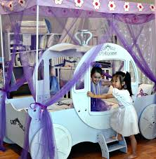 girls princess carriage bed princess bed frame u2013 bare look
