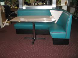 Teal Table L L Shaped Diner Booths Restaurant Diner Kitchen 1950 S