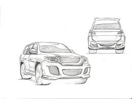 pencil sketch car body kit design breifing studio sky7